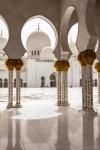 Schaich-Zayid-Moschee - Säulengang und Innenhof